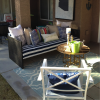 "Easy Patio Makeover: ""Helen"" the up-cycled goodwill couch & a no-sew slipcover!"