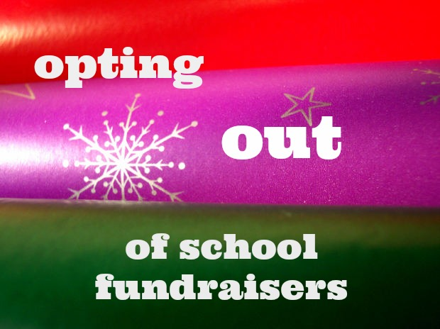 opting out of school fundraisers