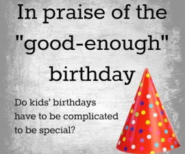 simple kids birthday parties