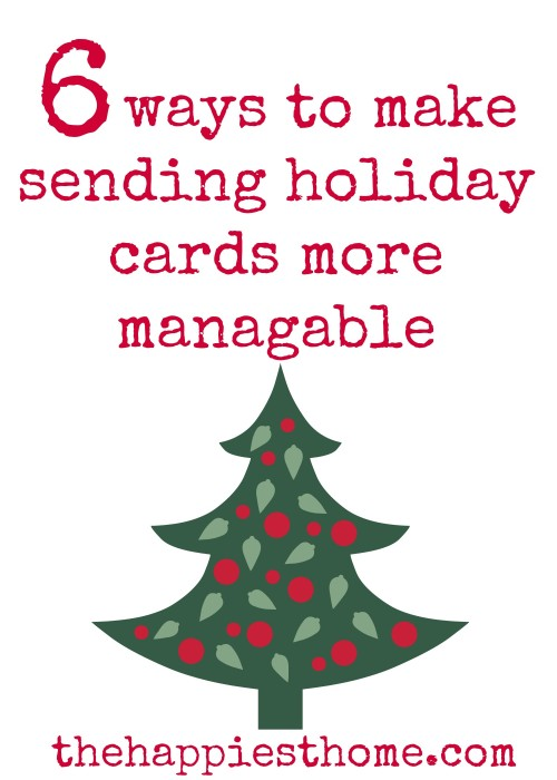 Easy christmas cards simple holiday ideas
