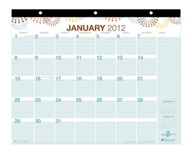 Blue Sky Wall Calendar