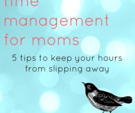 time management for moms