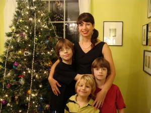 Kyran Pittman Christmas with boys