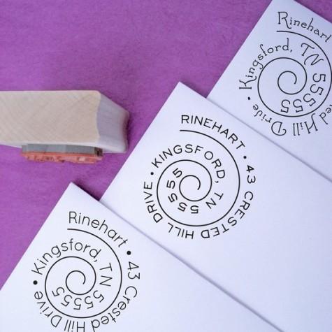 customized address stamp, Purple Lemon Designs