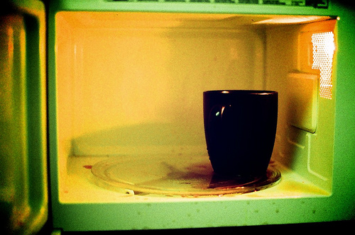 a hot mess, microwave, coffee