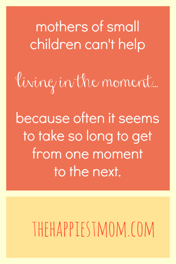 living in the moment with kids