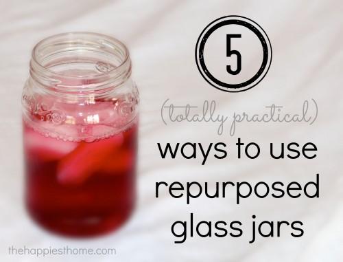 5 ways to use repurposed glass jars