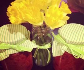 reuse glass jars for leftovers