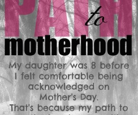 My Path to Motherhood, step motherhood
