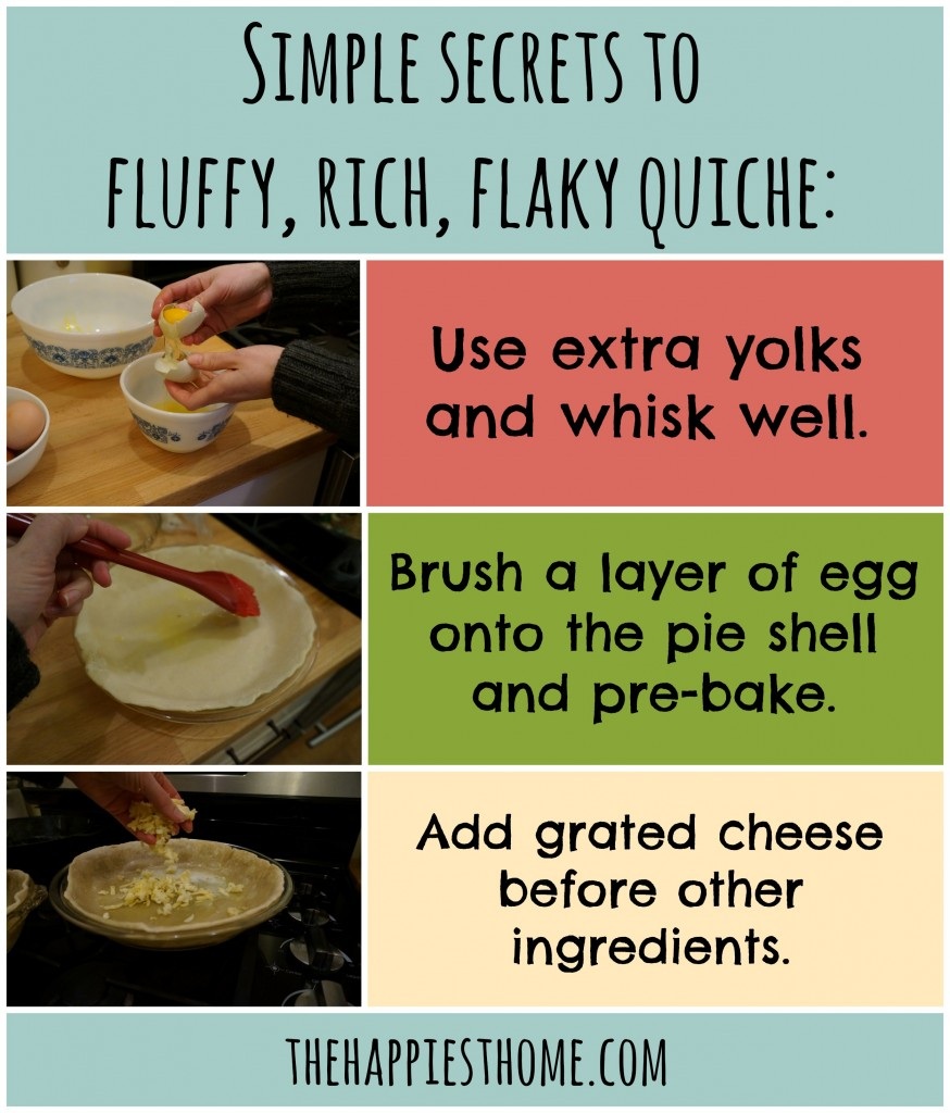 secrets to flaky quiche