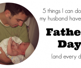 5 things I can do father's day