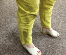yellow pants: after