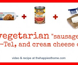 veggie sausage dip