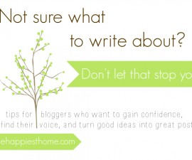 blog post topics, what to write, blogging
