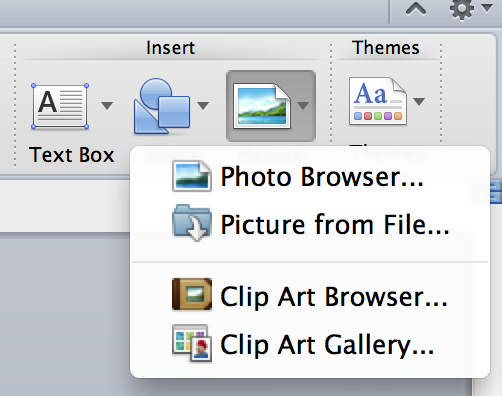 how to add photos into a mac word document