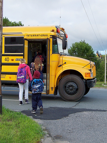 school bus, kids, back to school