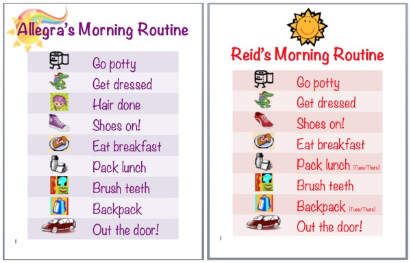 Side By Morning Routine Charts Jpg