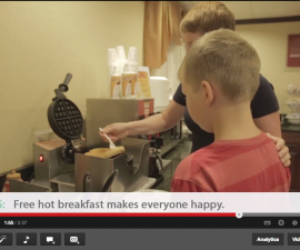 free hot breakfast at family-friendly hotel