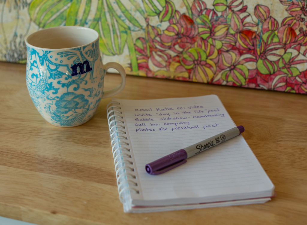 tea and to-do list