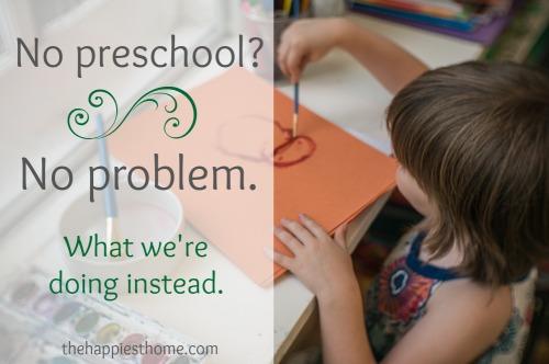 preschool, home school