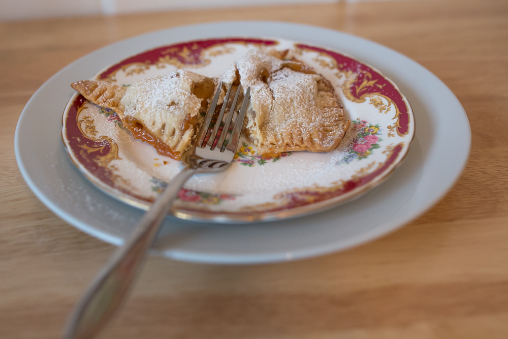 apple & salted caramel hand pie