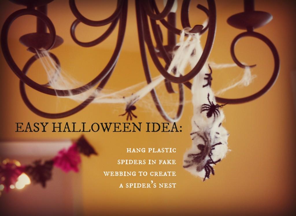 Halloween idea: easy spiders nest