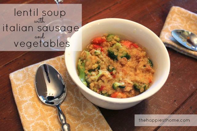 Lentil Soup, Italian Sausage, recipe
