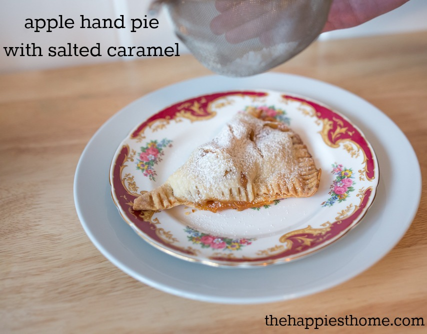 apple hand pie with salted caramel