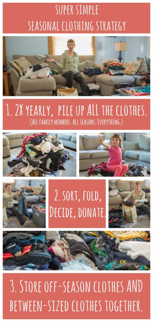 seasonal clothing swap - step by step