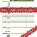 Free Printable Holiday Gift List Template