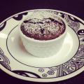 homemade chocolate souffle