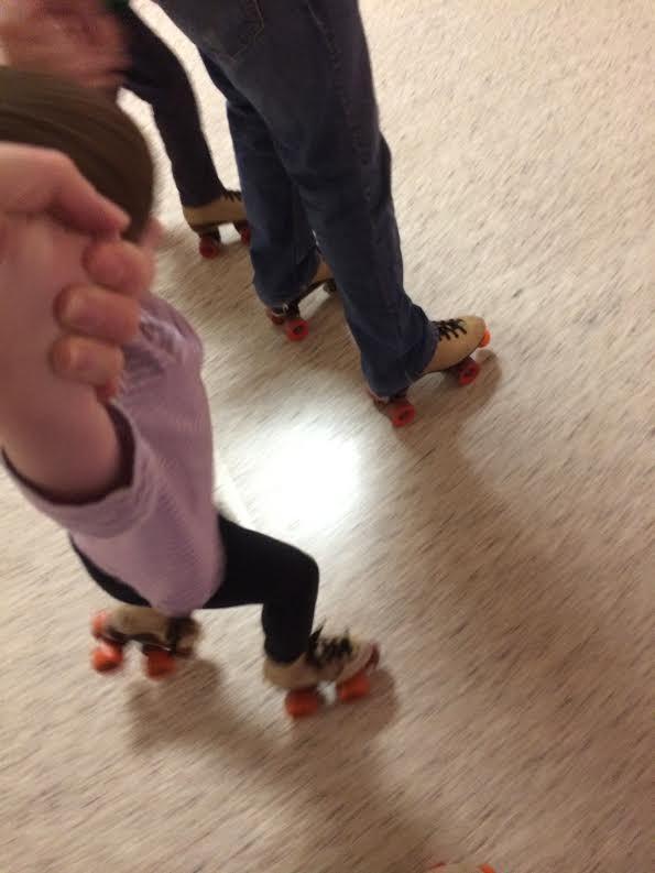 roller skating with Clara