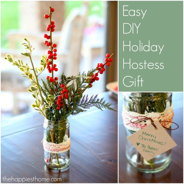Easy DIY Holiday Centerpiece Hostess Gift