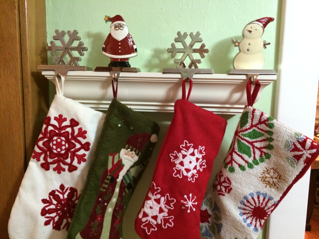 stockings, holiday decorating