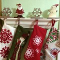 stockings, holiday decor, simple holiday decorating
