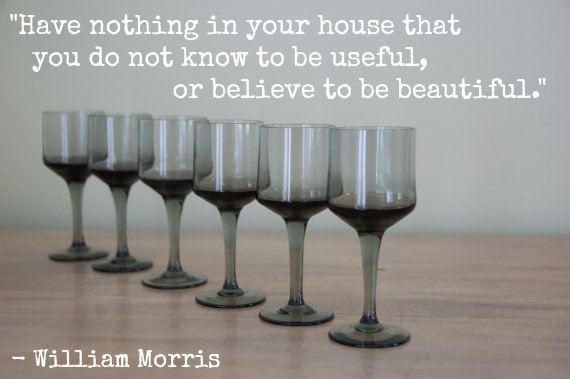 vintage, shopping, william morris quote