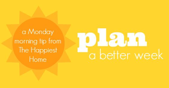 plan a better week