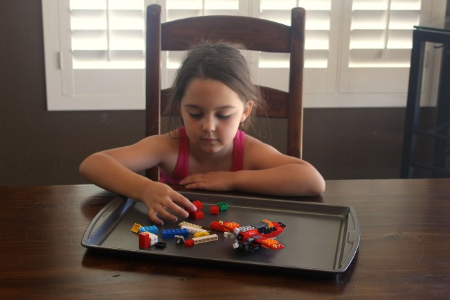 LEGOs on a tray