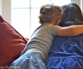 sibling hugs
