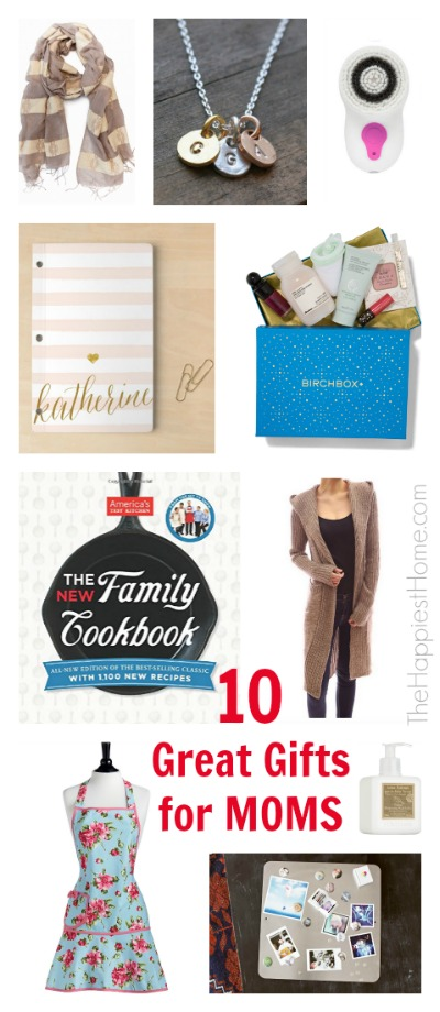10 Great Gifts for Moms (from TheHappiestHome.com)