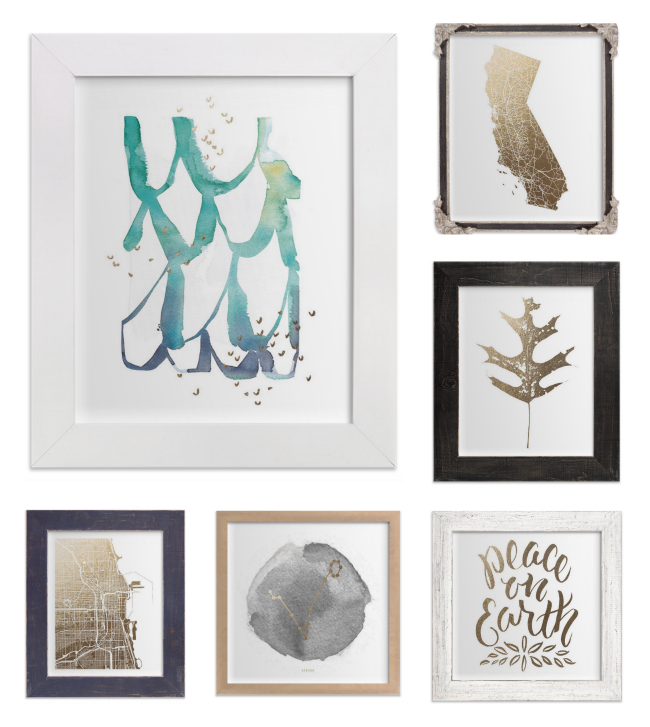 Minted Foil-Pressed Wall Art