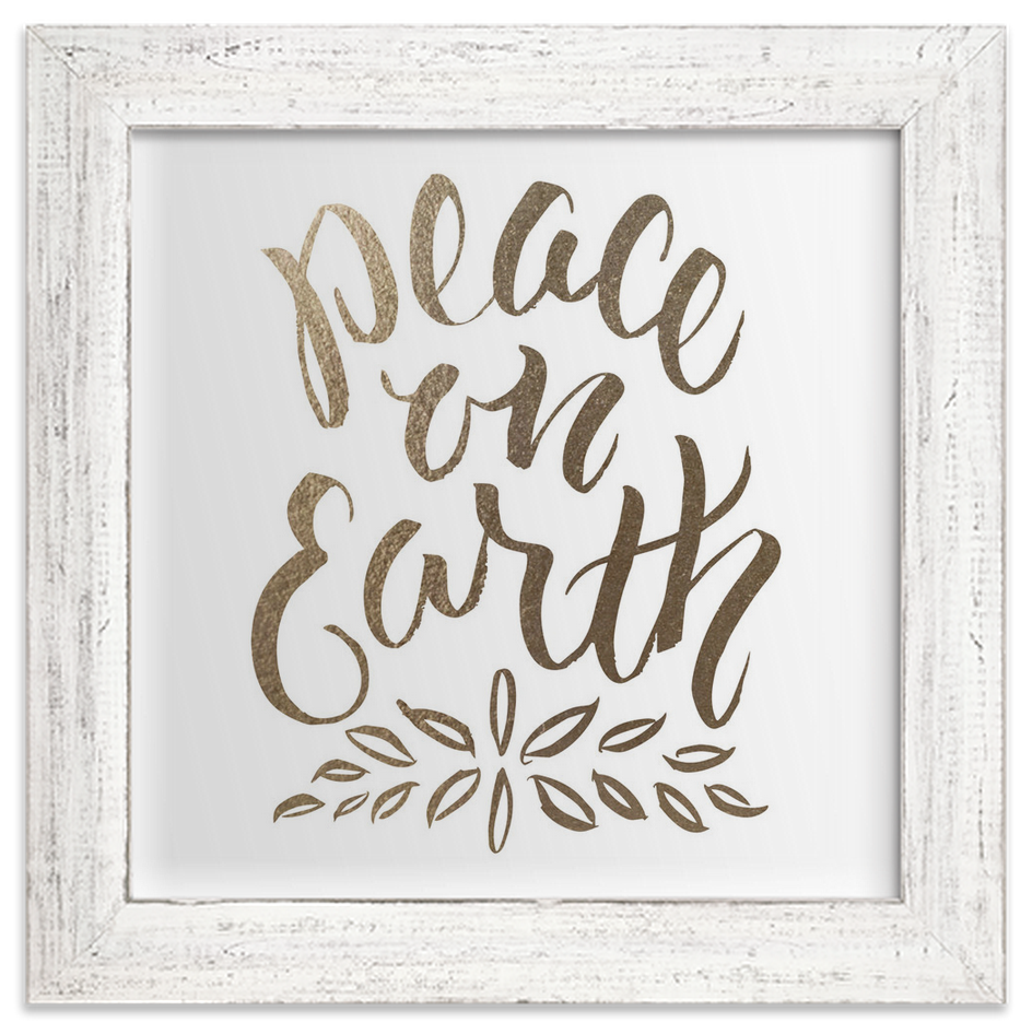 Framed Foil-Pressed Print Peach On Earth from Minted.com