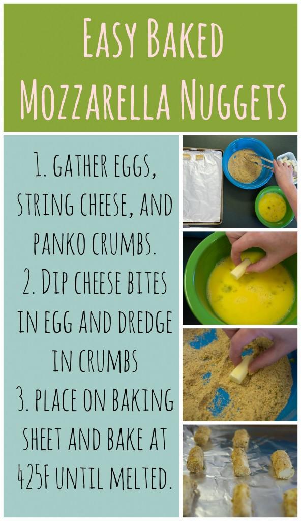baked mozzarella nuggets