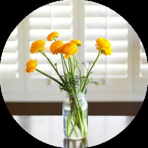 Flowers in Vase Circle
